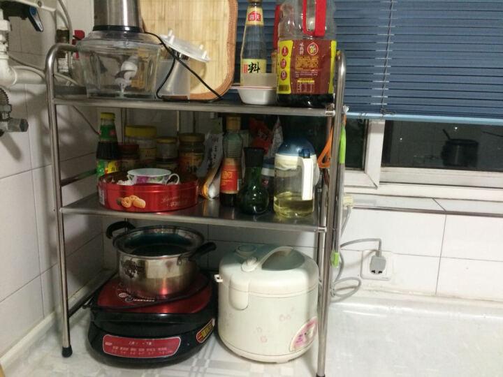 家蕊(JIARUI)22358 微波炉架不锈钢厨房置物架落地收纳架 层架 储物架 烤箱架 晒单图