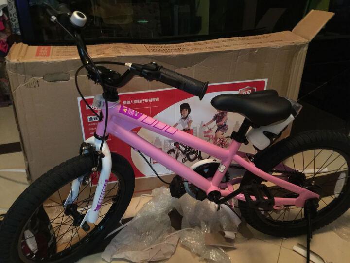 优贝(RoyalBaby) 儿童自行车14寸16寸12/20/18寸男女童表演车单车 粉色-新款 18寸 晒单图
