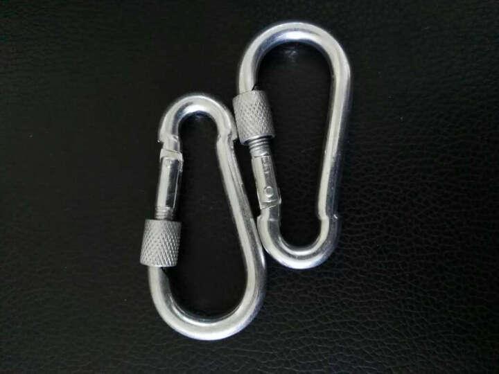 Golmud 钢铁扣 10MM带锁 攀岩扣/安全钩 承重400kg 12cm带锁 晒单图