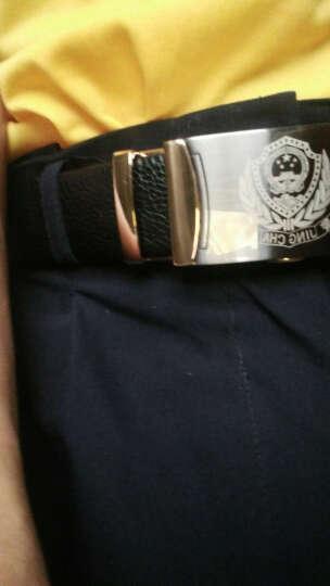 军创 将军皮带 男士创意礼品八一军人腰带部队皮带送朋友生日礼物警察腰带 军迷用品腰带送老公 陆军腰带-金边 晒单图
