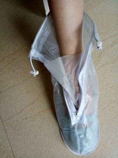 【2件8折】利雨防雨鞋套男女加厚底雨鞋耐磨防水鞋套儿童雨天防滑靴套 黑色 XL 晒单图