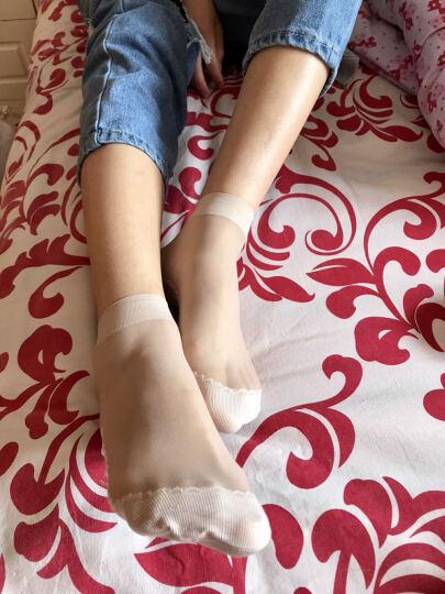 菲丝琳【10双装】防滑棉底短丝袜春夏薄款包芯丝短袜 女 肤5黑5 均码 晒单图