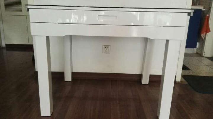 恋维斯 餐桌 现代简约餐桌椅组合 实木餐桌钢化玻璃折叠餐桌小户型 伸缩餐台 餐桌餐椅套装 黑玻璃不带电磁炉1.35米+6张实木椅子圆餐桌 晒单图