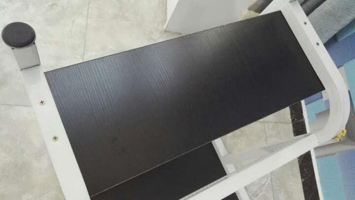 洪存 电脑桌台式笔记本家用简易办公桌写字台简约书桌子 黑胡桃+白架 100*60*74 晒单图