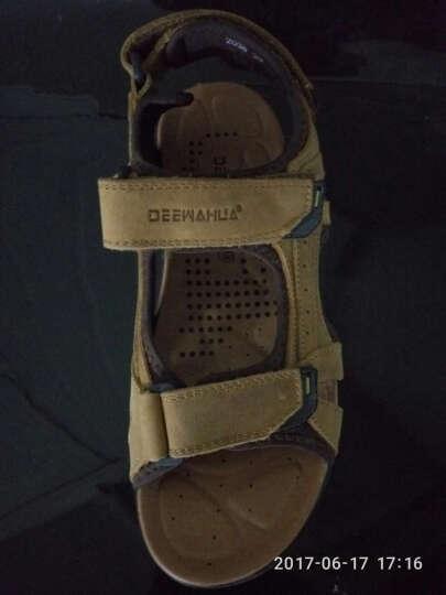 梵格鸟 夏季上新休闲牛皮男凉鞋时尚透气沙滩鞋个性百搭徒步鞋软底防滑男士凉鞋子A2038 A2038棕色 44 晒单图