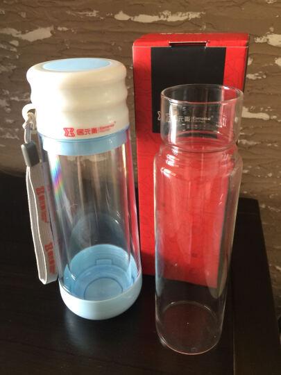 居元素 水晶芯 玻璃双层 多普 随身杯 蓝色 晒单图