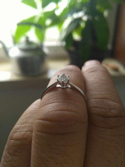 恒久之星 珠宝 钻戒女款 18K金/铂金钻石戒指六爪经典款订婚戒/求结婚女戒 裸钻定制 现货18K23分SI DE 晒单图
