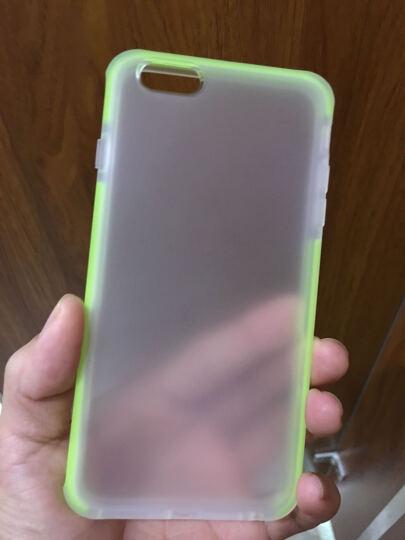 【京东自营】洛克ROCK 苹果iPhone6plus/6s plus手机壳 优盾系列防摔抗震保护套/透明磨砂壳 透明绿 晒单图