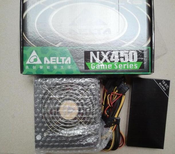 台达(Delta)额定450W NX450电源(80PLUS铜牌/全电压/12CM温控静音风扇/支持背线/主动式PFC/三年质保) 晒单图