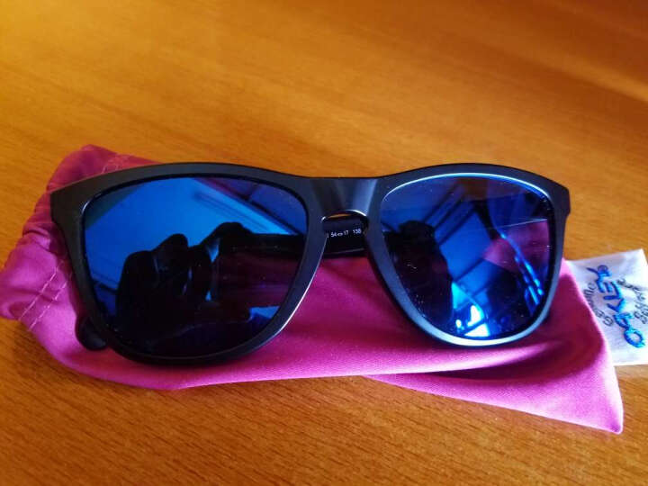 OAKLEY欧克利太阳镜男女款 Frogskins休闲系列眼镜 OO9245-25 灰色条纹镜框蓝色镀膜镜片墨镜 晒单图
