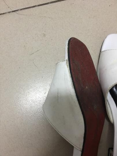 性感露趾低跟鞋2017夏季新款水钻鱼嘴水晶跟女凉鞋防水台粗跟凉拖鞋女邻家天使 LJ6612白色 36 晒单图