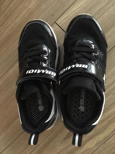开心米奇 童鞋儿童运动鞋 春夏男童鞋网面透气鞋中大童气垫鞋儿童鞋跑步鞋 F35726733 黑白 35码 晒单图