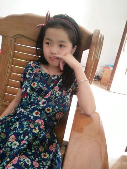 馨颂 女童连衣裙卡通动物背心裙公主裙儿童裙子 藏蓝色 F169C 130 晒单图