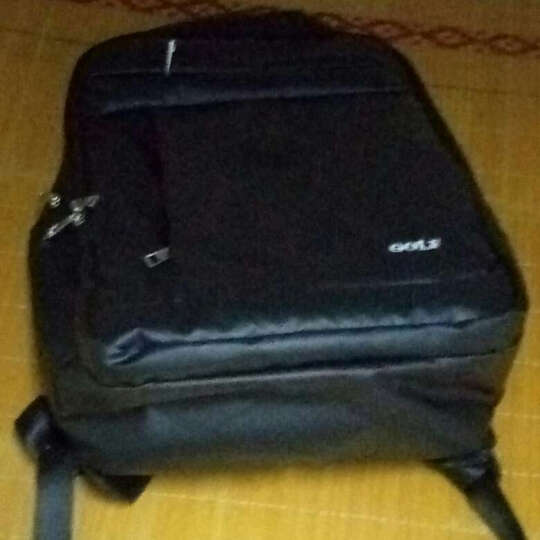 高尔夫GOLF双肩包时尚学生背包防水男士双肩书包大容量15.6英寸电脑包多功能笔记本包 款式3深蓝色 可装14英寸 晒单图