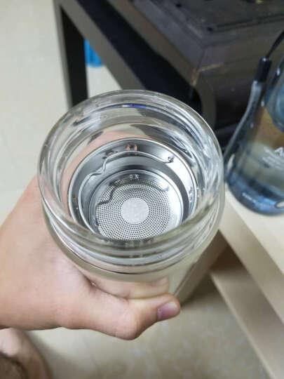 然也(RAE)双层耐热无铅玻璃杯大容量隔热带盖泡茶杯子男女士便携家用304不锈钢水杯带滤网 400ml金色R9330 晒单图