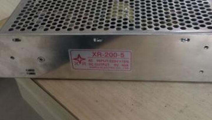 伊莱科5V40A开关电源S-200-5 LED灯带监控直流集中供电电源 晒单图