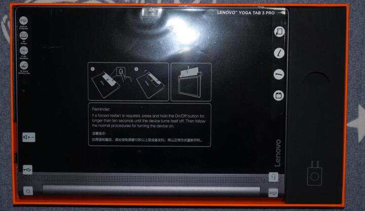 联想投影平板 YOGA Tab3 Pro 10.1英寸 平板电脑 (Intel X5-Z8550 4G/64G 2560*1600 QHD屏幕) 黑色 WIFI版 晒单图