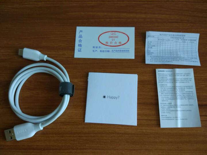 Anker安克 USB-C数据线 USB2.0安卓手机快充充电器电源线 支持华为P9/P10荣耀8小米5/4C乐视/Switch 0.9米白 晒单图