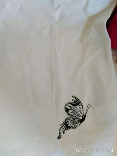 麦卡欧蒂2016秋冬装印花蕾丝打底t恤韩版宽松上衣长袖T恤女8618 白色(短袖) 3XL 晒单图
