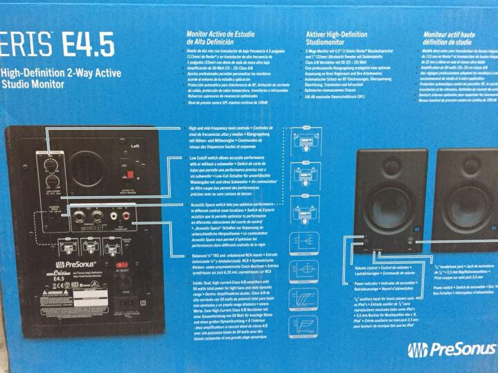 PRESONUS Eris E3.5/E4.5 书架桌面有源监听音箱电脑音响50+ 晒单图