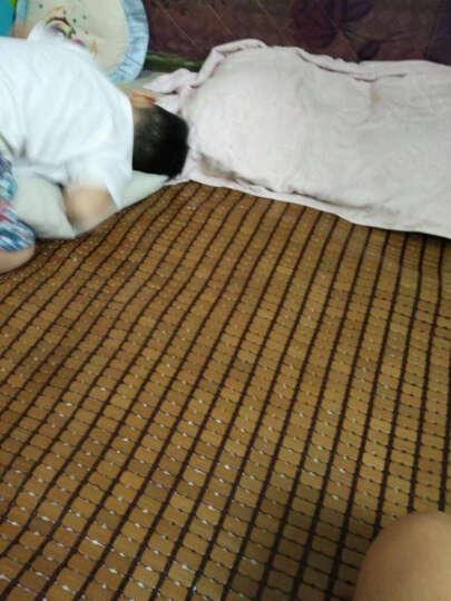 正帆夏季麻将竹席垫凉席碳化麻将床席单双人1.5米1.8m学生竹席子可定制定做 龙腾只包边单筋咖色 1.5m(5英尺)床 晒单图