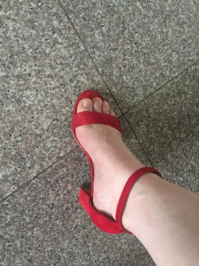 plover凉鞋女夏尖头高跟女鞋真皮欧美通勤百搭凉鞋 红色-鱼嘴 39 晒单图