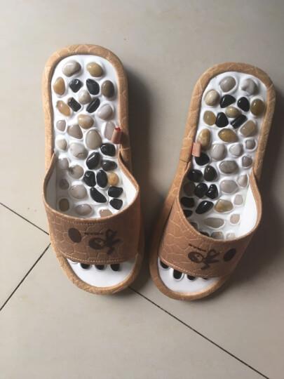 送妈妈礼物送爸爸天然雨花石按摩拖鞋爸爸妈妈实用创意礼品送父亲礼物送爸爸送老年人送长辈 咖啡色 43-44 晒单图