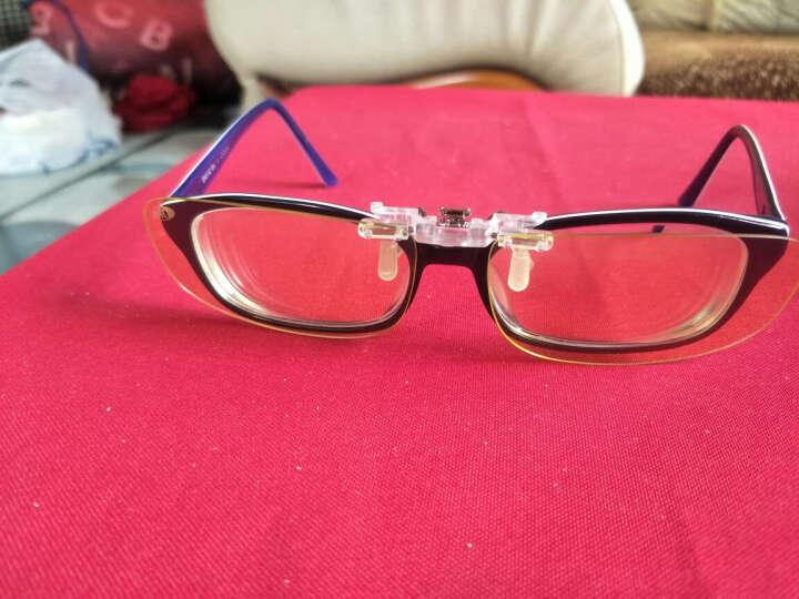科莱多防辐射防蓝光眼镜夹片男女款 近视眼镜夹片电竞游戏电脑护目平光镜 大号翻转方形夹片-镜片尺寸6.2*4cm 晒单图