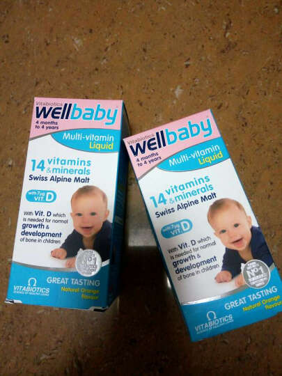vitabiotics 英国进口薇塔 WELLKID 婴幼儿童14种综合维生素 晒单图