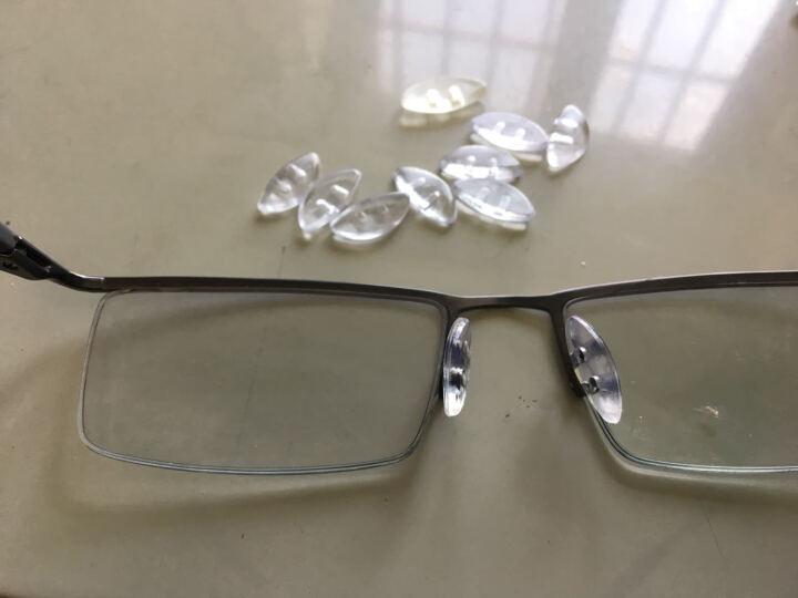 太阳镜眼镜 双插孔插入式硅胶鼻托叶特种防滑双卡口鼻垫透明色和黑色 透明色 晒单图