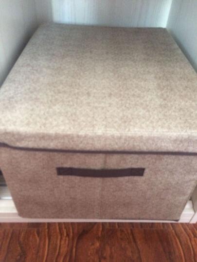 默默爱 无纺布收纳箱 家用衣物整理箱布艺内衣收纳盒可折叠 卡其纯色-大号 晒单图