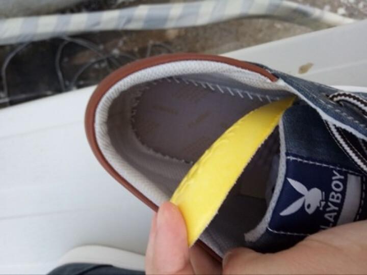 花花公子男鞋夏季新款时尚休闲鞋潮流帆布板鞋 米黄 41 晒单图