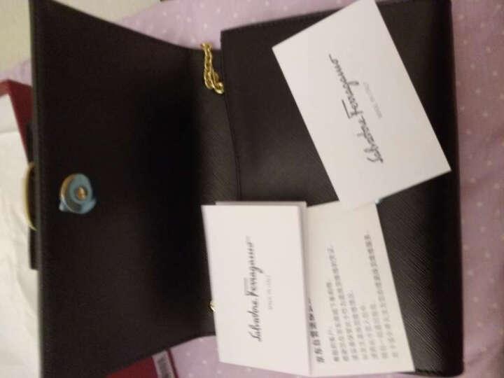 Salvatore Ferragamo 菲拉格慕 女士黑色牛皮蝴蝶结单肩斜挎包 22B558 0588256 晒单图