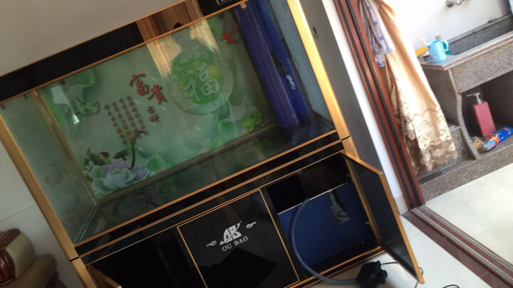 龙鱼缸水族箱客厅家用生态鱼缸屏风底过滤中大型免换水支持定制 50宽底过滤 150长90缸68柜CM 晒单图