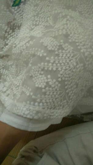 语度 韩版连衣裙女2018夏秋季新款时尚优雅气质大摆短袖雪纺中长款裙子 9025 图片色 XL 晒单图