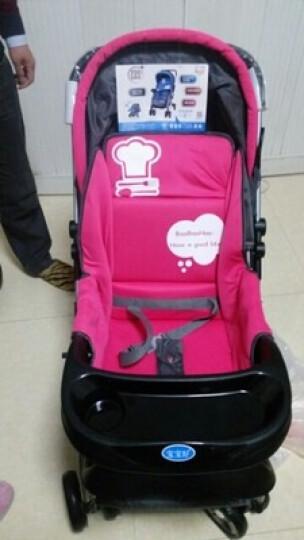 宝宝好 婴儿推车双向避震可躺可坐小孩子儿童手推车轻便折叠可变摇椅 马戏团-桑巴舞红(新款) 晒单图