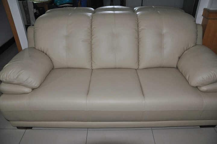 慕适 沙发 真皮沙发 现代简约沙发 三人沙发 小户型沙发客厅整装家具 双人沙发四人组合办公 油光黑(升级版a50) 四人沙发 晒单图