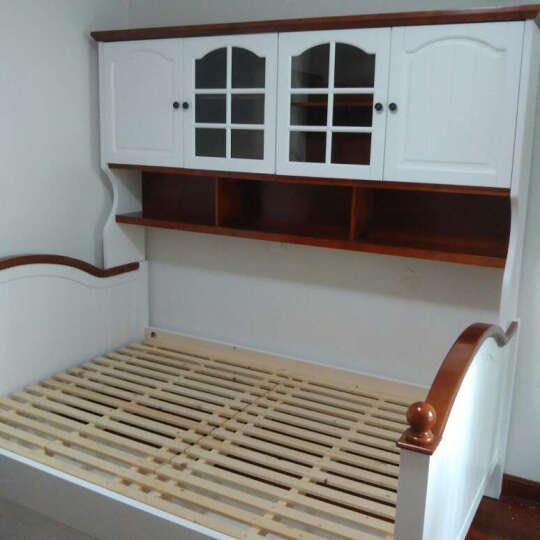 艾安娜 实木床上下床单人床 组合双层床美式家具 组合衣柜床(带拖床) 1200* 1900 晒单图