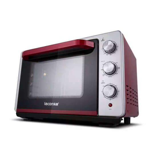 乐创(lecon) 电烤箱 蒸烤箱 电蒸炉 蒸汽炉 烘焙 台式家用 多功能电蒸箱 红色蒸烤箱 晒单图