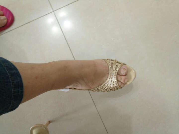 米维兰(MIWEILAN)凉鞋女高跟细跟2018新品简约百搭性感黑色防水台鱼嘴露趾裸色鞋子 裸色(跟高11厘米) 35 晒单图