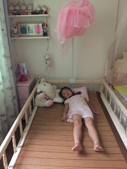 怡美达 实木儿童床带护栏小床松木床拼接床男孩女孩床小孩单人床 时尚款三边护栏 外径192*107*70+5cm3E椰梦维床垫 晒单图