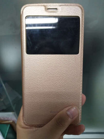 戴为 oppor9手机壳手机套智能翻盖支架皮套保护套防摔男女款 适用于oppo r9 R9S/R9st/R9sk金色-5.5英寸-视窗款 晒单图