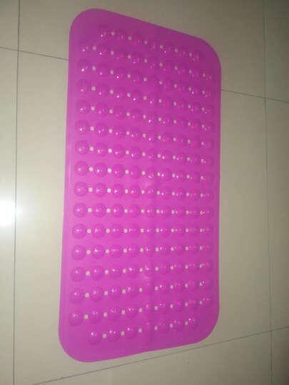邦特家用大号浴室防滑垫按摩脚底进门门垫厕所卫生间厨房垫子沐浴地垫 玫红草莓 36*71cm家人安全放心 晒单图