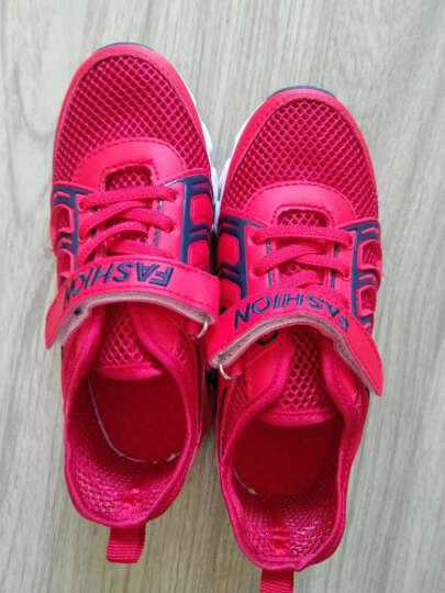威亚路 童鞋2017夏季透气儿童凉鞋运动百搭男大小女孩宝宝学生沙滩鞋子网鞋 宝蓝 39 晒单图