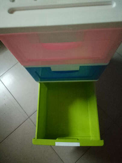 禧天龙Citylong 塑料收纳柜储物柜抽屉式儿童衣物整理柜 四层彩色42L 0227 晒单图