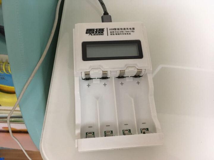 雷摄 LEISE 921AUSB智能屏显快速充电套装(配4节5号2100毫安低自放充电电池+4槽USB充电器)玩具/话筒 晒单图