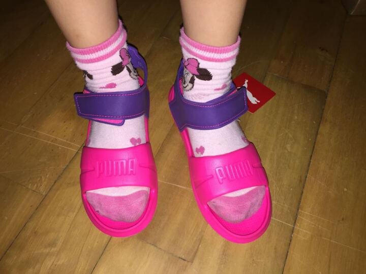 puma彪马儿童凉鞋夏季女童鞋男童运动鞋子宝宝沙滩鞋魔术贴运动凉鞋休闲鞋 黄色 29码适合脚长17.5cm 晒单图