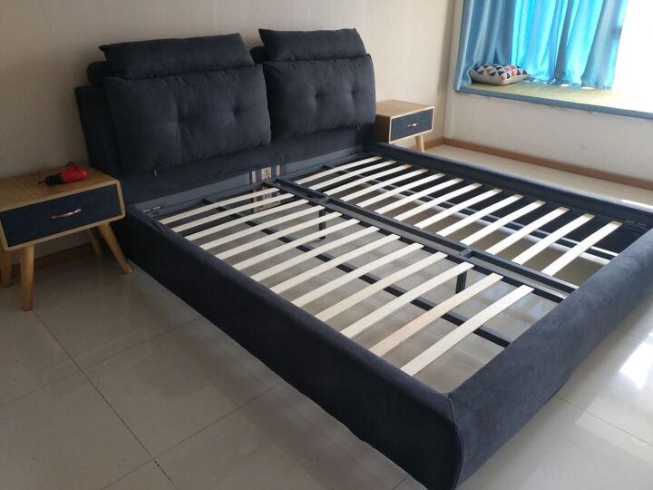 盛可唯 布艺床 简约北欧床现代可拆洗双人床时尚布床舒适软靠婚床 深灰色 1.8*2.0米(裸床) 晒单图
