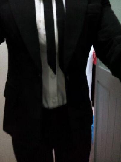 菲斯代尔 小西装女职业装女装套装2017春秋新款小西服女外套正装面试装工作服 深灰色西装+衬衫+西裙+西裤 S(75-85) 晒单图