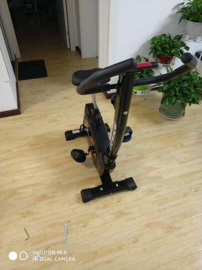 蓝堡动感单车静音家用健身器材室内脚踏车运动磁控车健身车LD586 黑色 晒单图